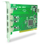GWC USB 2.0 Hi-Speed 4+1 Port PCI Host Card (PU2245)